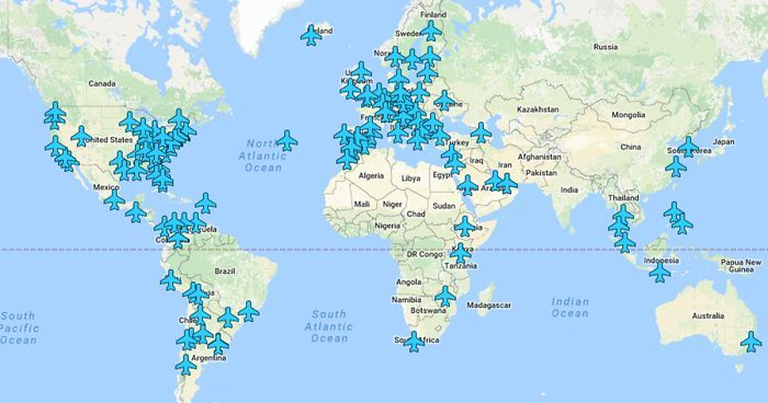 Wi Fi Passwords Of Airports Around The World In A Single Map