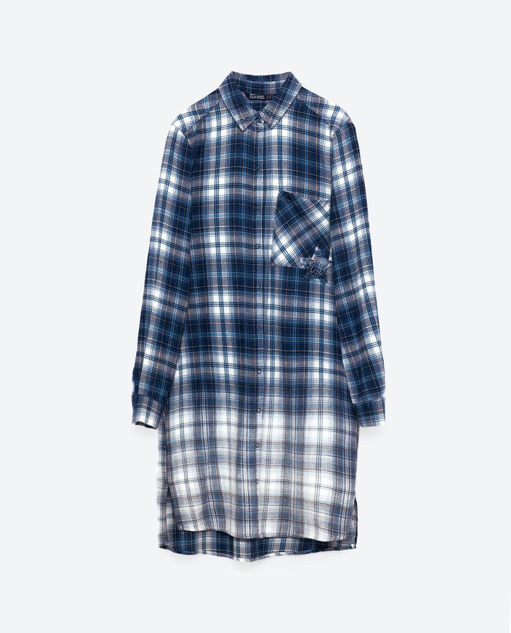 342a7472 Image 8 of CHECKED SHIRT DRESS from Zara | Dresses | Shirt Dress ...