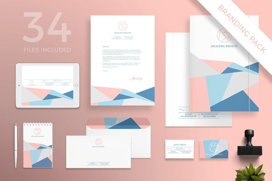 Branding Pack Sweets Pinterest Letter Templates Card