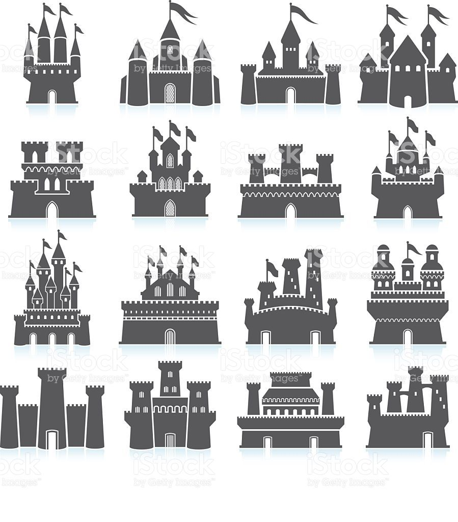 Medieval Castle black and white royalty free vector