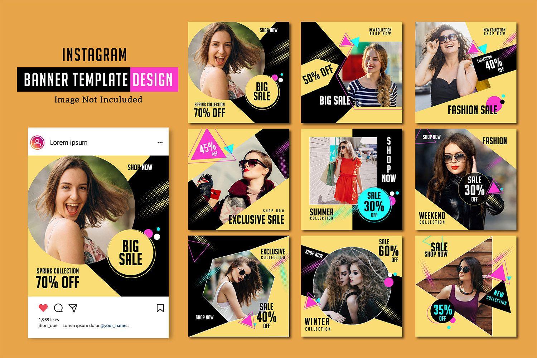 Instagram Marketing Template Fashion Marketing Social Media Marketing Instagram Ad Photoshop Instagram Marketing Banner Advertising Instagram Banner