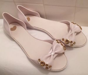 276dc1342080 Mel By Melissa White Peep Toe Jelly Shoes Sandals Size 9 Ladies Free  Shipping