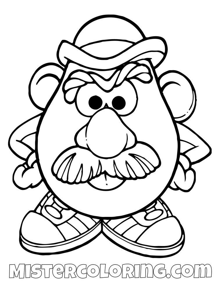 Toy Story Coloring Page For Kids Mister Coloring In 2020 Toy