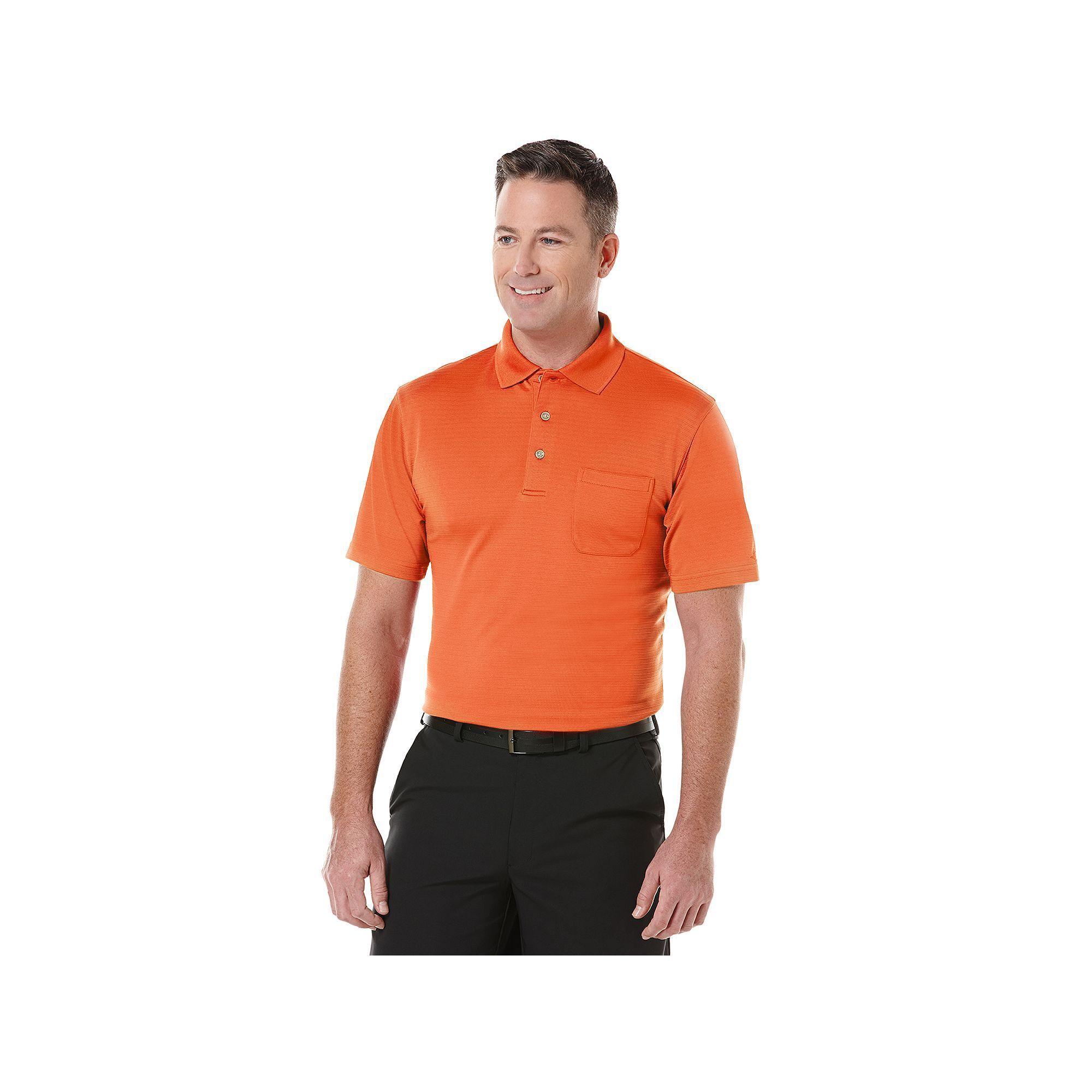 988e4fd89 Big & Tall Grand Slam Airflow Solid Pocketed Performance Golf Polo, Men's,  Size: Xl Tall, Brt Orange