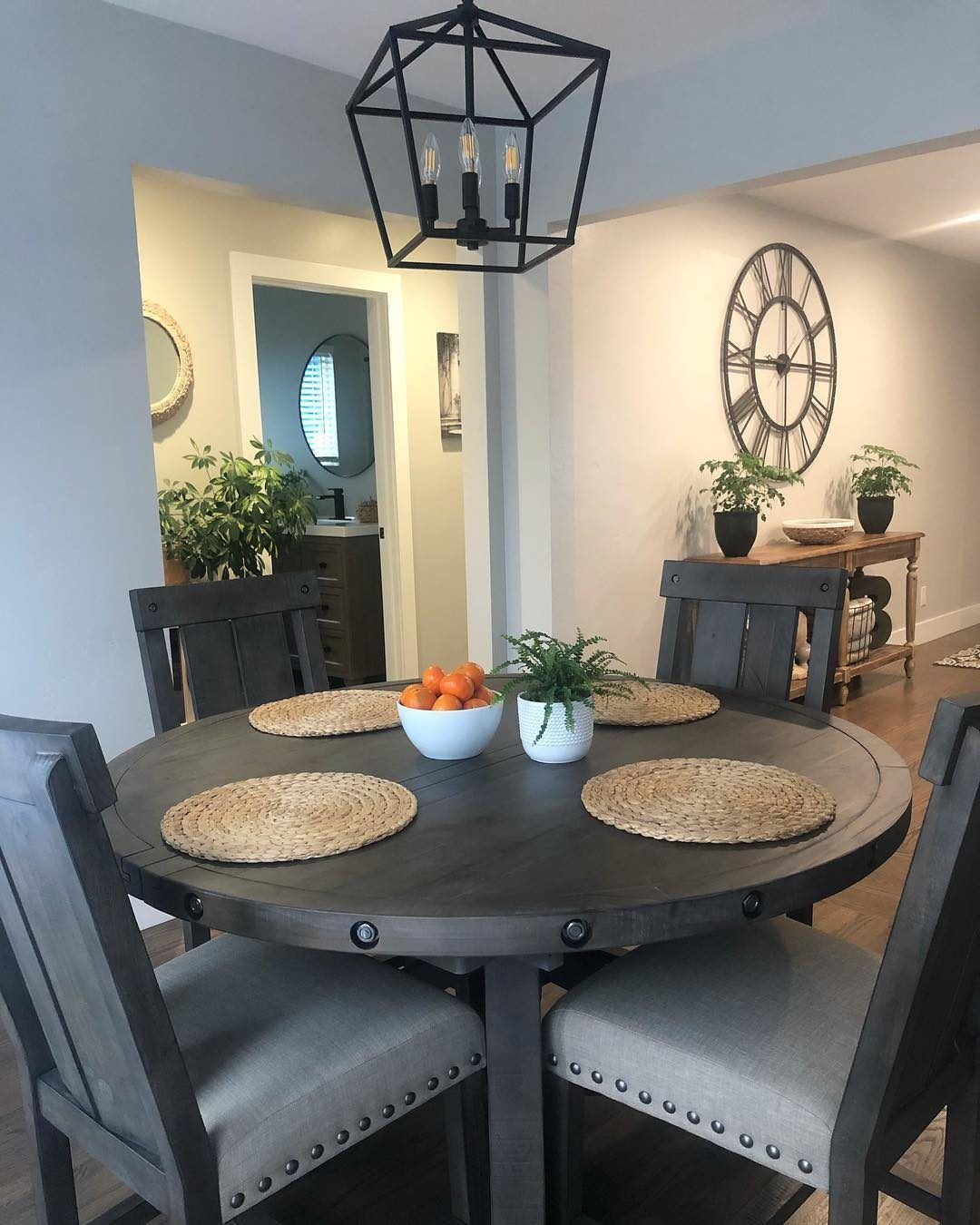 Jaxon 5 Piece Extension Round Dining Set W Wood Chairs Round Dining Set Modern Farmhouse Dining Round Dining Room Table