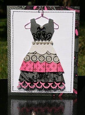 dcwv street lace stack scrap dress card cards et. Black Bedroom Furniture Sets. Home Design Ideas