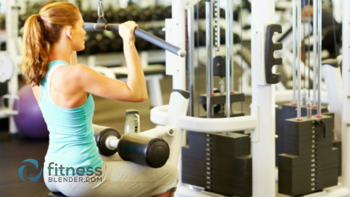 weight machine workout routine