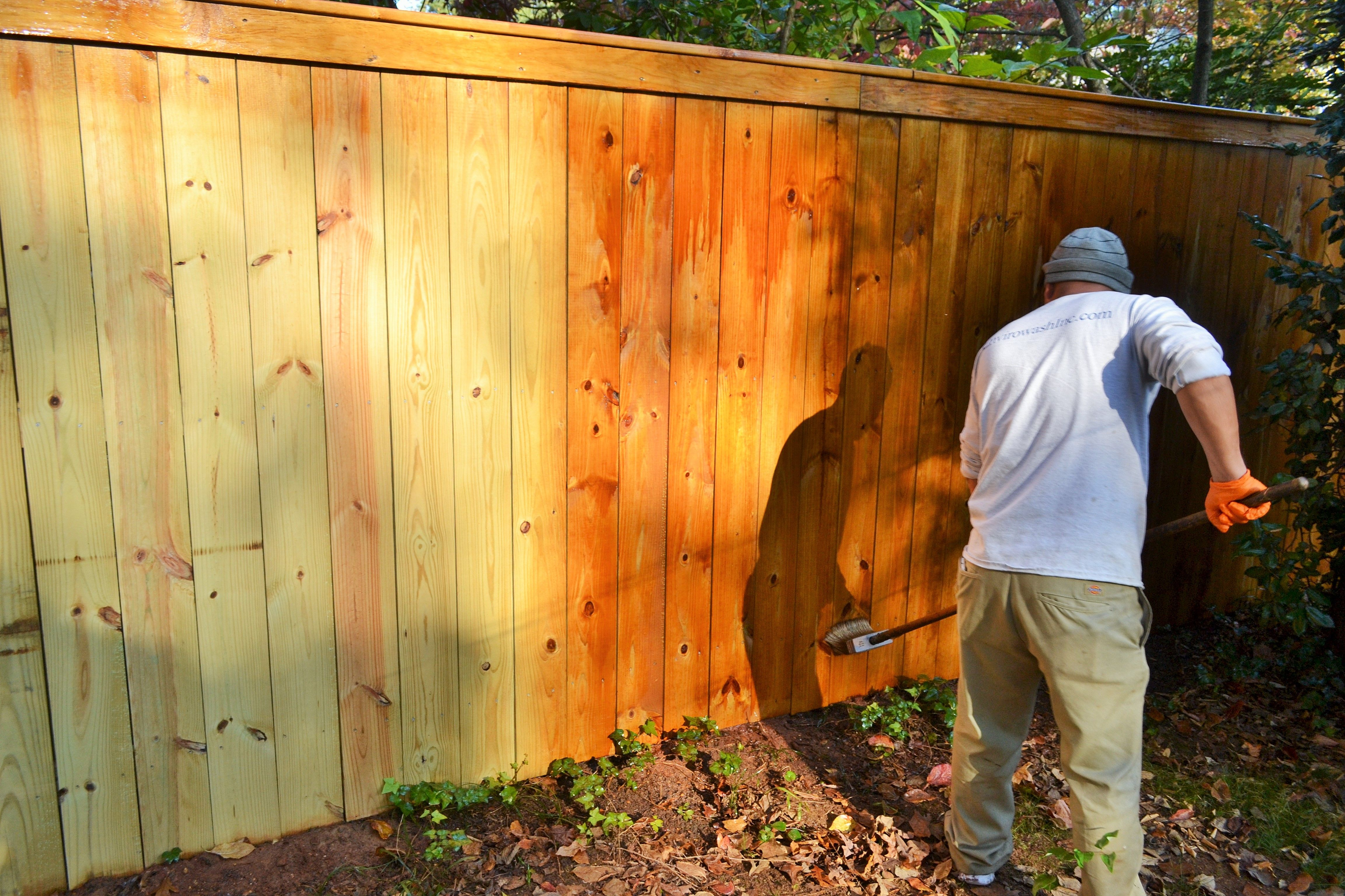Fence Staining Using Ready Seal Residential Pressure