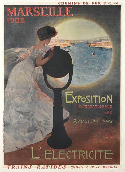 PLM - Marseille - 1908 - Exposition internationale des applications