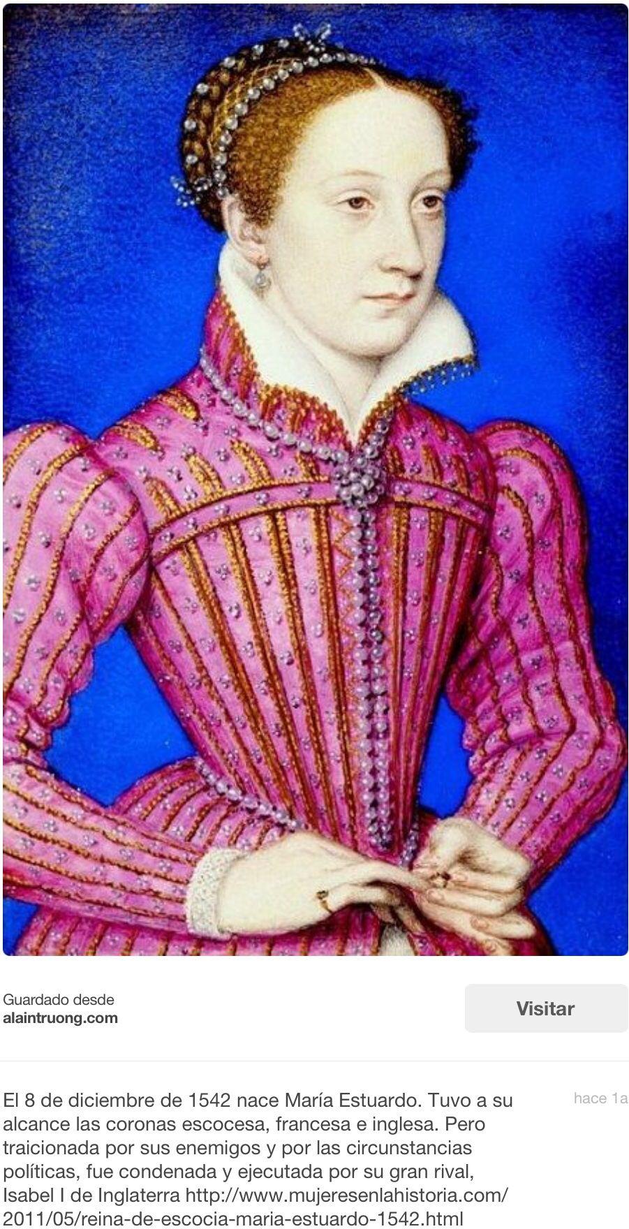 Conspiradora incorregible se mantenía en contacto con los enemigos de  Isabel, dentro y fuera del reino. Más tarde, enferma, marchita y ya sin  admiradores ...