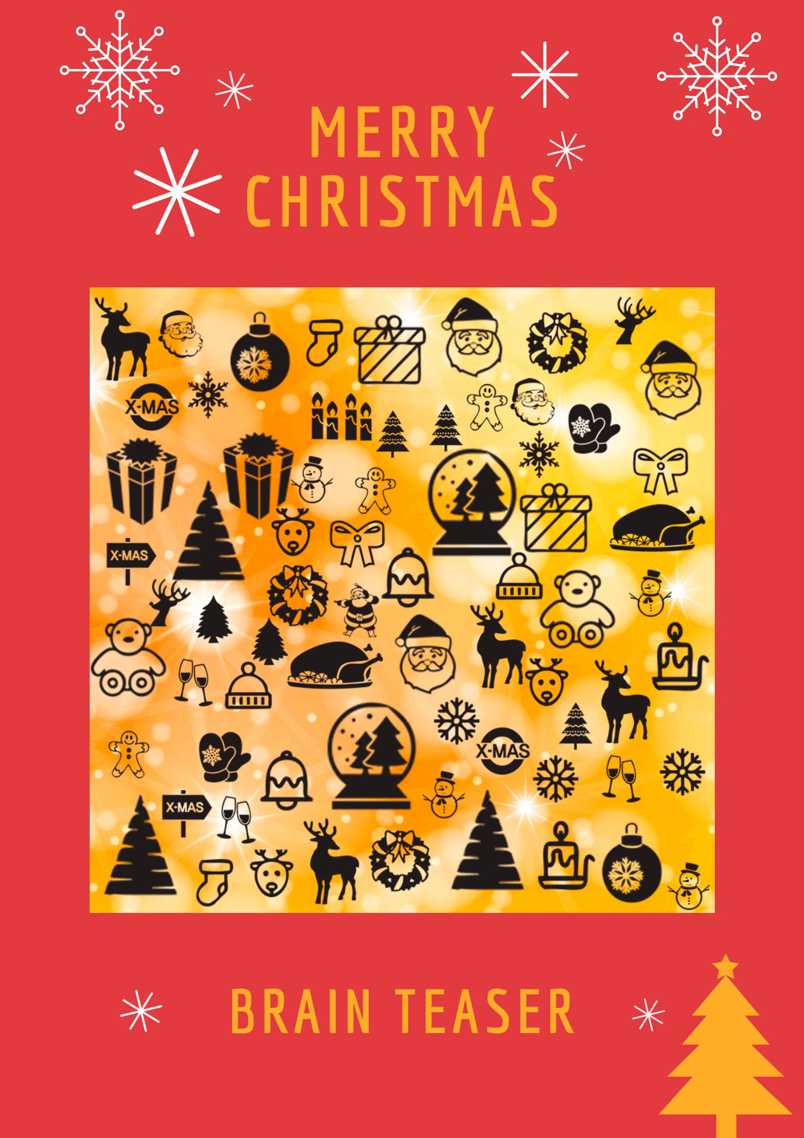 Christmas brain teasers with answers Brain teasers