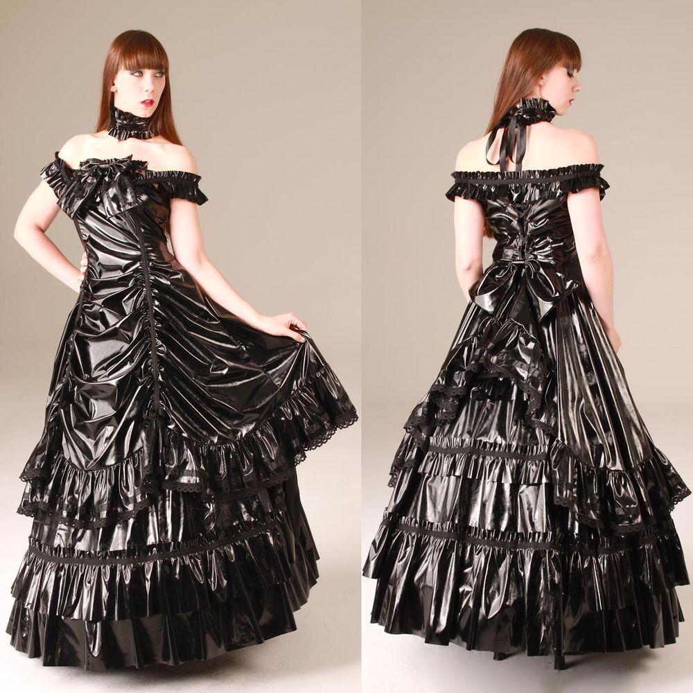 Dress Ballkleid Lack Black Ballgown Andersartig Pvc Empress Gothic kiTPXZulwO