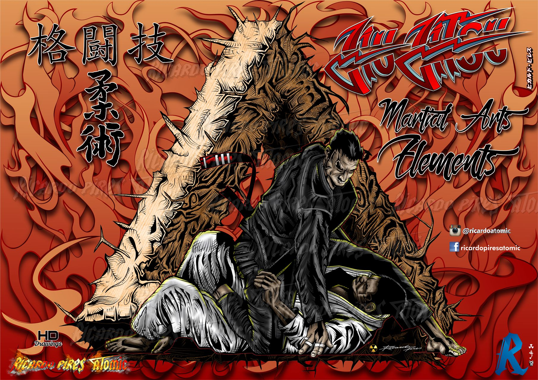 Jiu Jitsu Martial Arts Elements Fighters Exclusive Drawings For Sale High Resolution Easy Manipulation Support If Y Jiu Jitsu Tattoo Jiu Jitsu Martial Arts