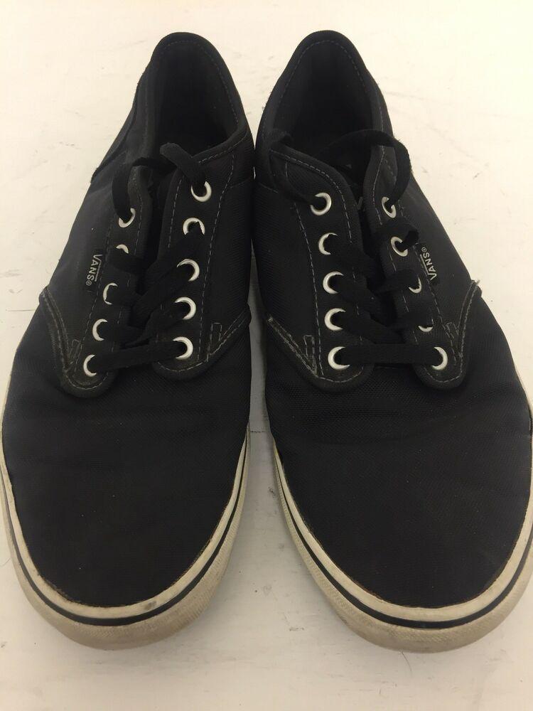 Vans Shoes Black Canvas Mens Size 12