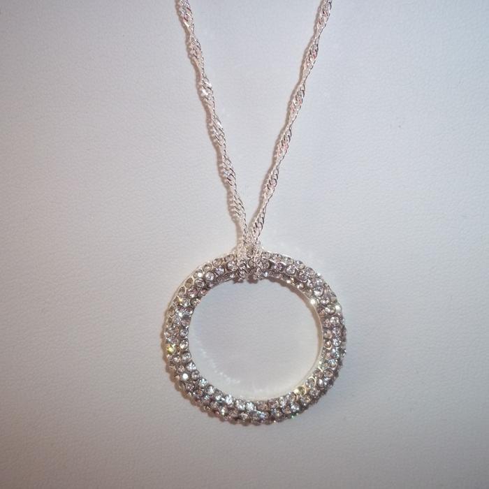 #giftlocal...Silver Circle Rhinestone ... - Lady P Jewelry | Scott's Marketplace