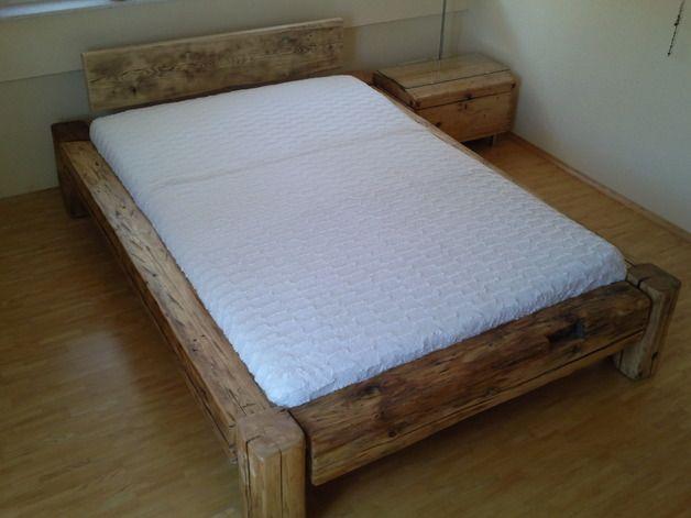 balkenbett aus altem holz betten m bel mit liebe handgemacht in ellwangen deutschland von. Black Bedroom Furniture Sets. Home Design Ideas