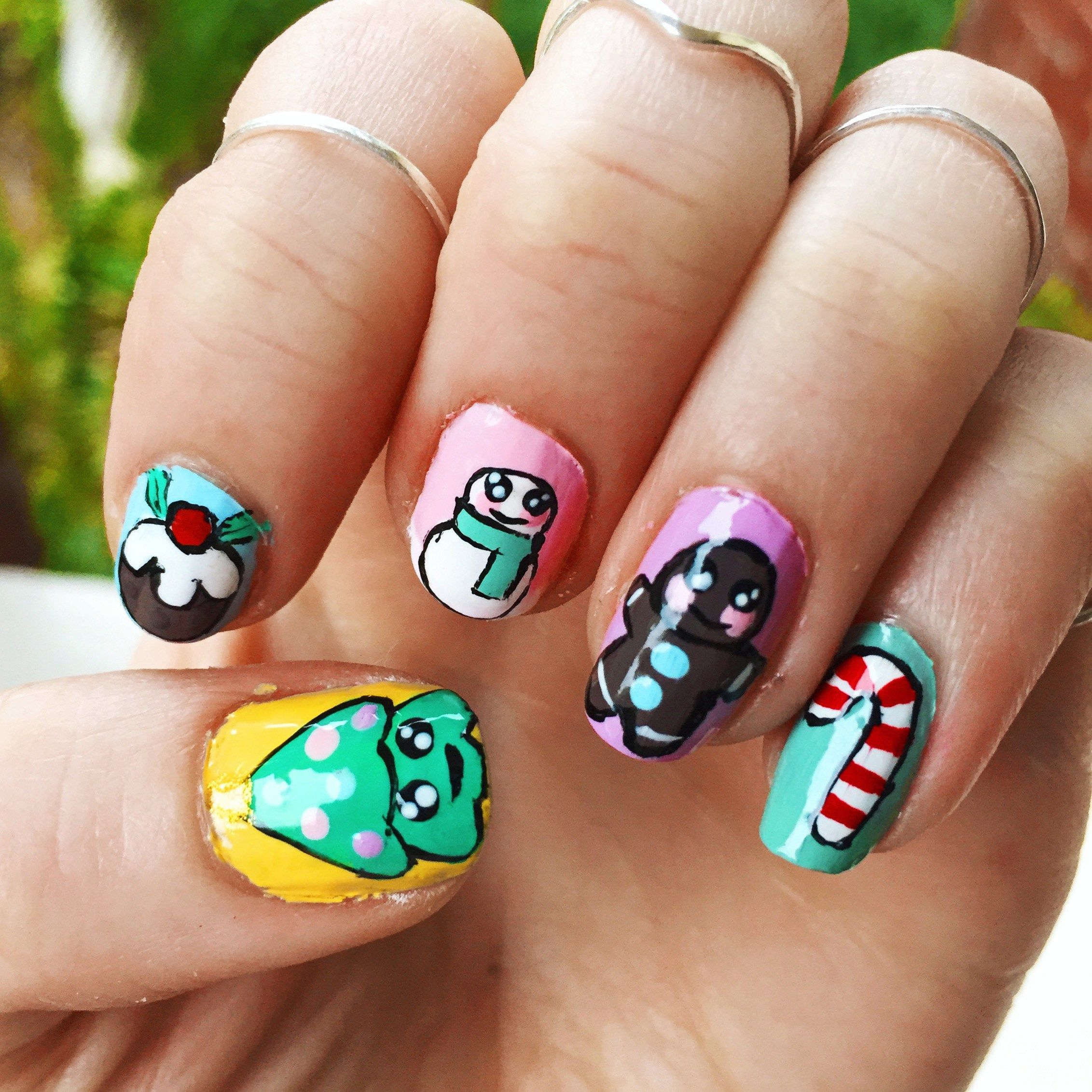 I Scream Nails Inspired Christmas Nail Art Nails Pinterest