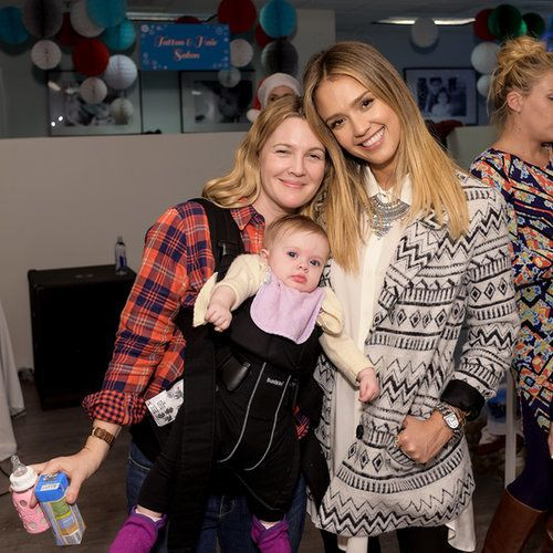 Drew Barrymore and Daughters at Jessica Alba's Holiday Event | POPSUGAR Celebrity