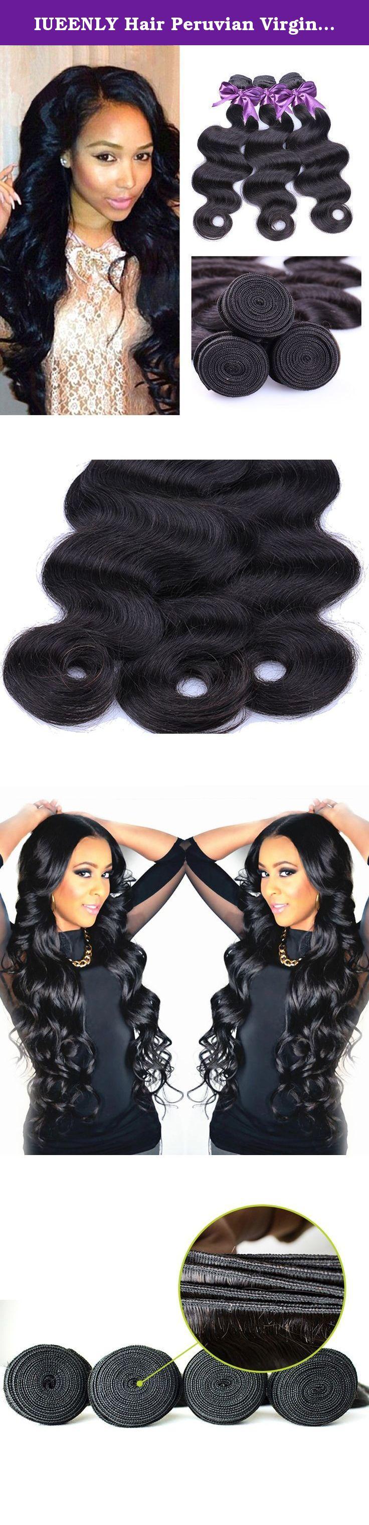 Iueenly hair peruvian virgin hair body wave bundles grade a