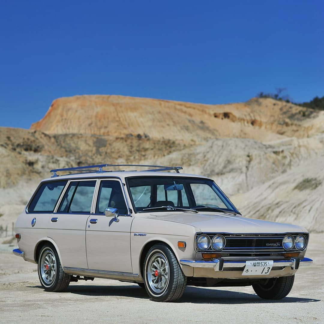 Clear Blue Sky And 1971 Datsun 510 Bluebird Wagon I Am Nissan Japan Official Instagramer I Would Like To Thank Everyone Who Has