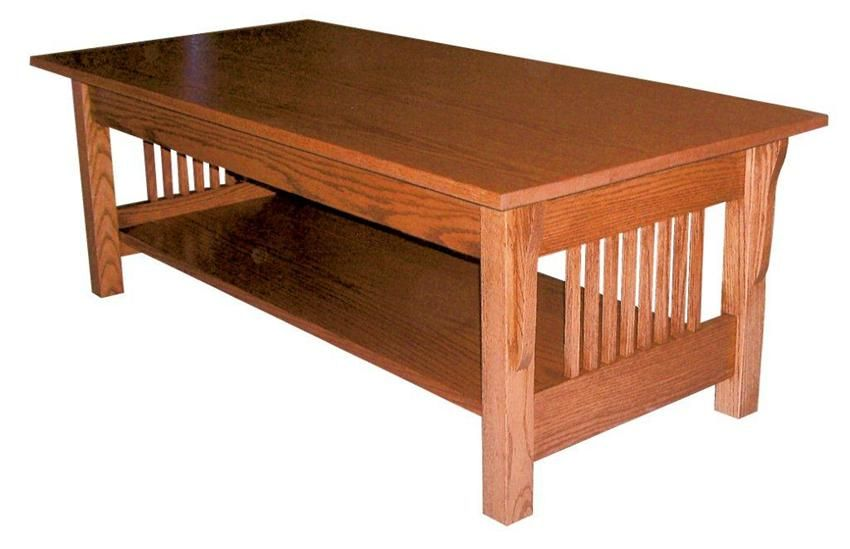 Amish Prairie Mission Rectangular Coffee Table Coffee Table Mission Style Furniture Rectangular Coffee Table