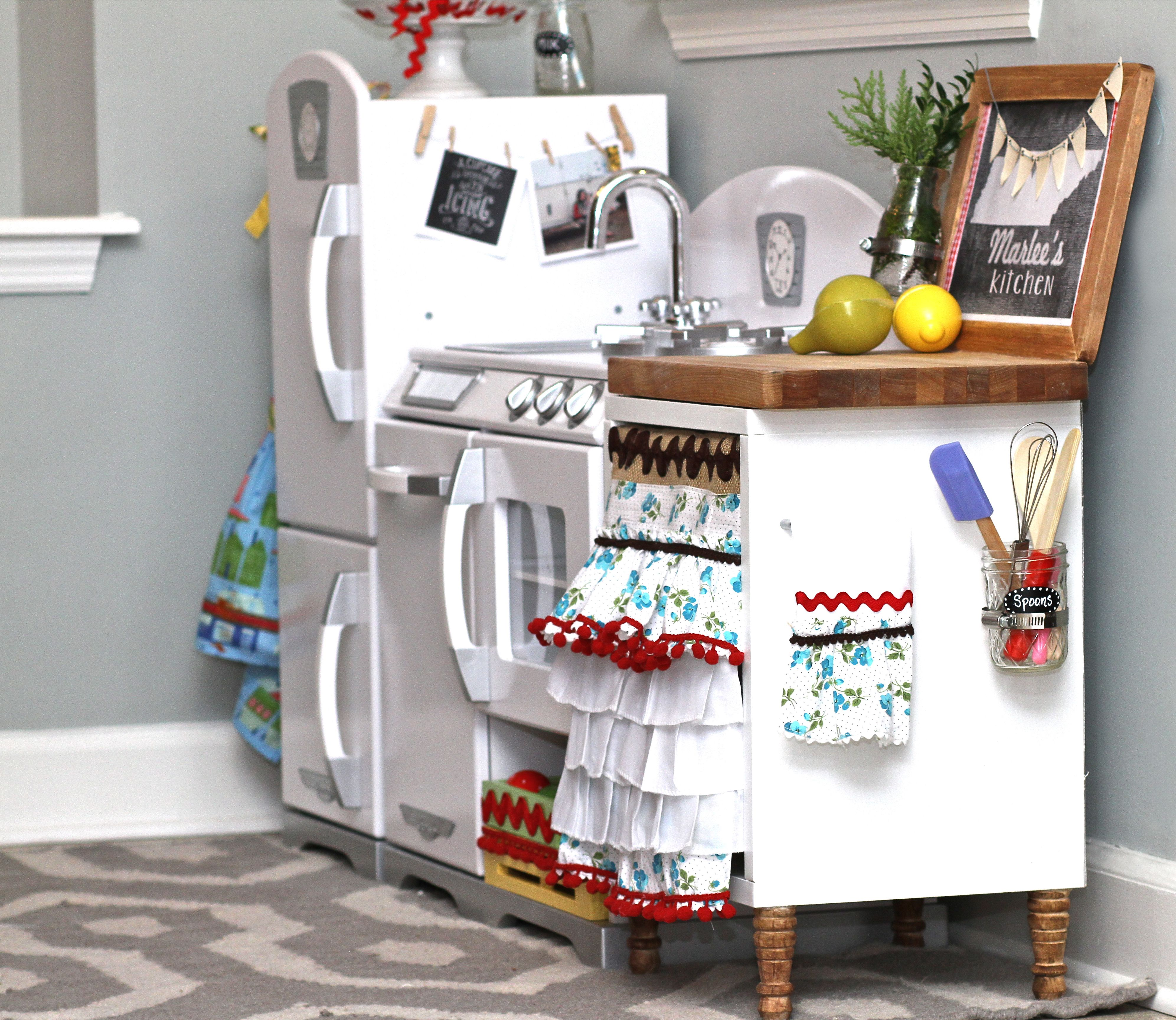Retro Kids Kitchen Free Standing Pantry Ideas Play Kidkraft Madeover Our Was Adorable But It Needed More Counter Space