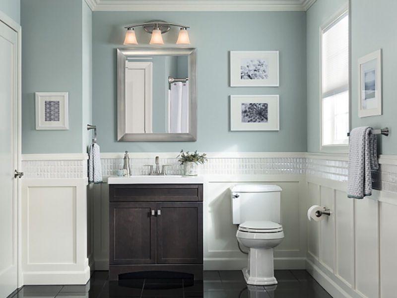 Style Selections Drayden Grey Integral Single Sink Bathroom Vanity With Cultured Marble Top At Lowe S Guest Bathroom Small Craftsman Bathroom Guest Bathrooms