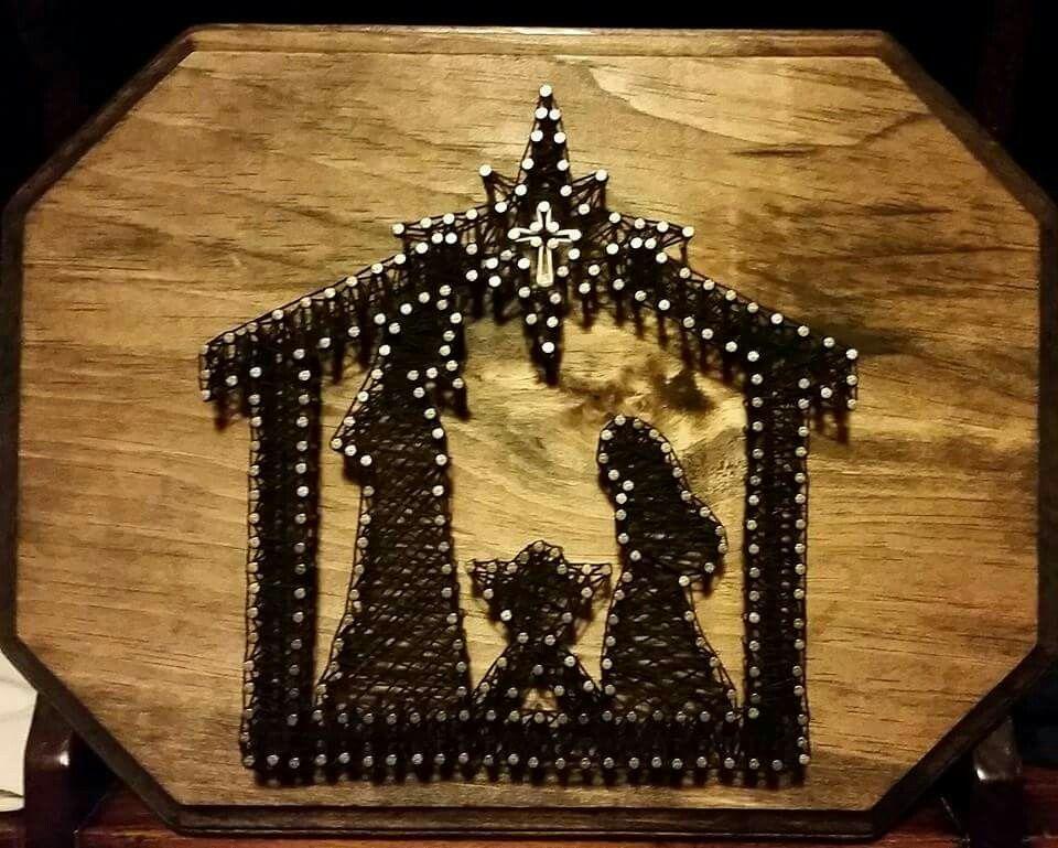 nativity string art bastelideen pinterest. Black Bedroom Furniture Sets. Home Design Ideas