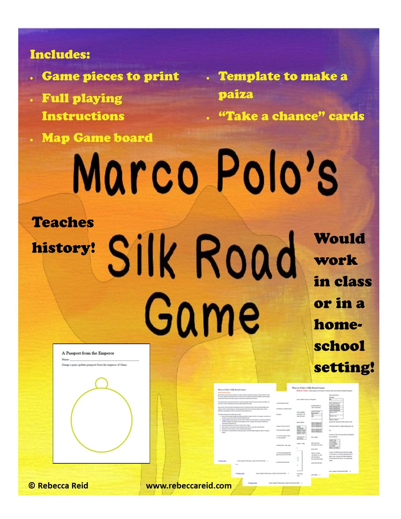 Giveaways Galore Marco Polo Silk Road Game