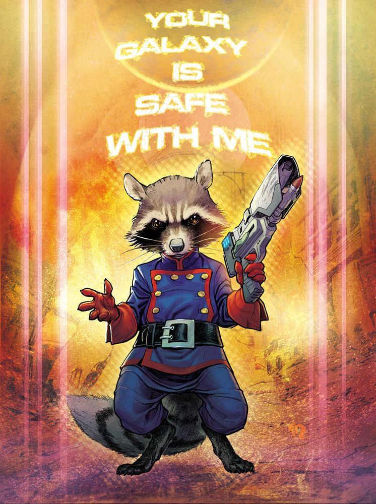 Rocket Raccoon by StephaneRoux deviantart com on @deviantART