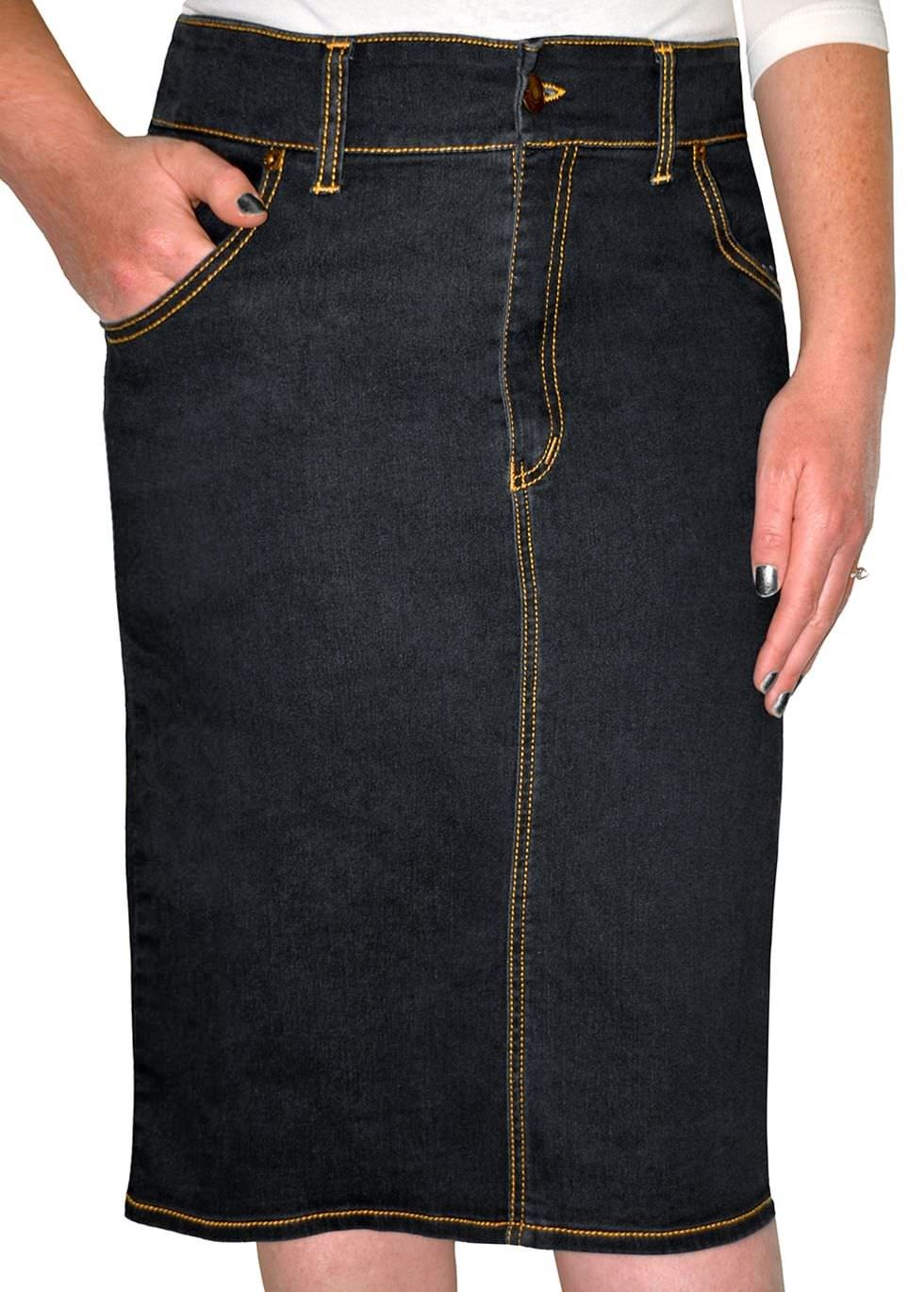 fcf8d4821f Your favourite denim skirt just got better! Two front and two back pockets  with no back slit, straight cut, fitted design. #modestskirts #modest