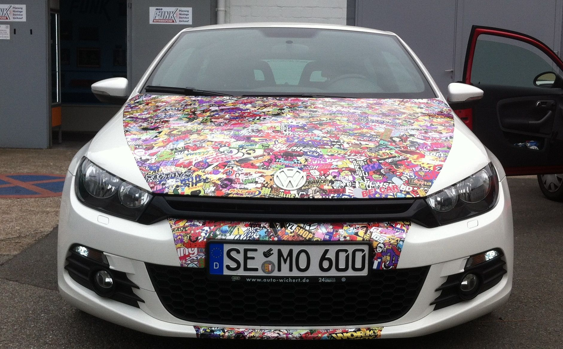 Audi r8 partial car wrapping sticker bomb stickerbomb by - Sticker Bomb Stickerbomb Design By Autoaufkleber