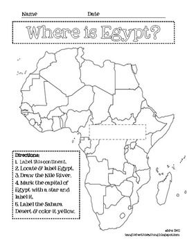 Worksheets Ancient Egypt Map Worksheet 1000 images about egyptian party on pinterest ancient egypt and egypt