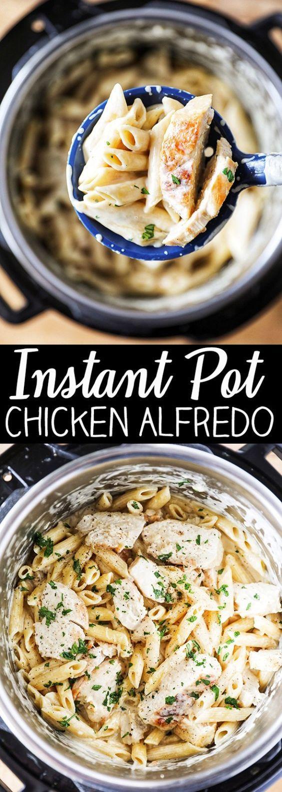Instant Pot Chicken Alfredo Pasta images