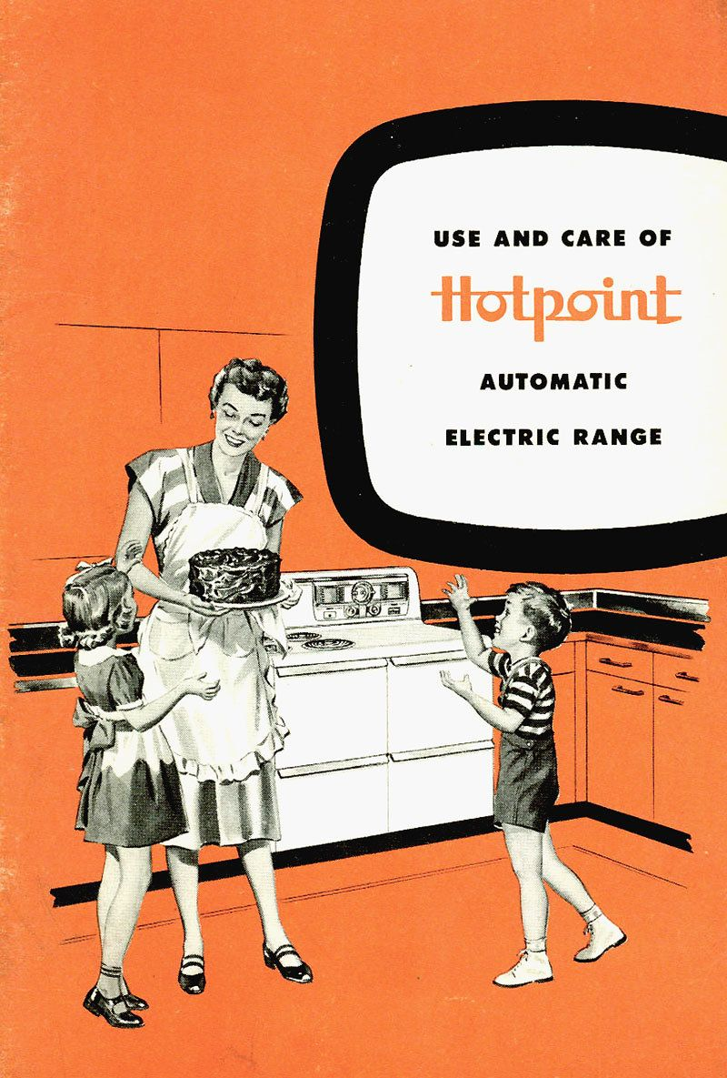 1950s Vintage Mid Century Appliance Manual Use And Care Of Hotpoint 1948 Ge Refrigerator Schematic Automatic Electric Range