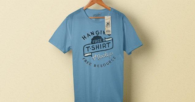 Download T Shirt Hanging On Hanger Mockup Download Free Psd Files Camisetas Blancas Disenar Camisetas Camisetas