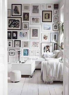 love the frame wall