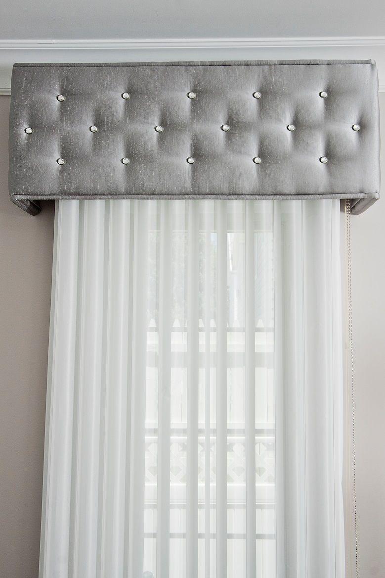 Cornice box embellished with Diamond Head Upholstery Tacks (Photo ...