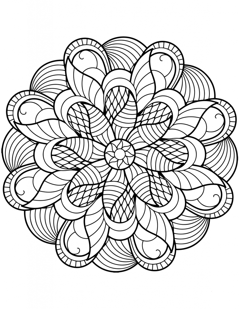 Flower Mandala Coloring Pages Best Coloring Pages For Kids Mandala Coloring Pages Mandala Coloring Books Mandala Printable