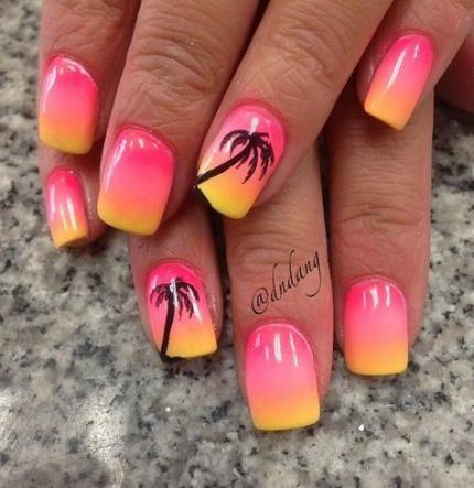 beach pedicure designs toenails palm trees 16 trendy
