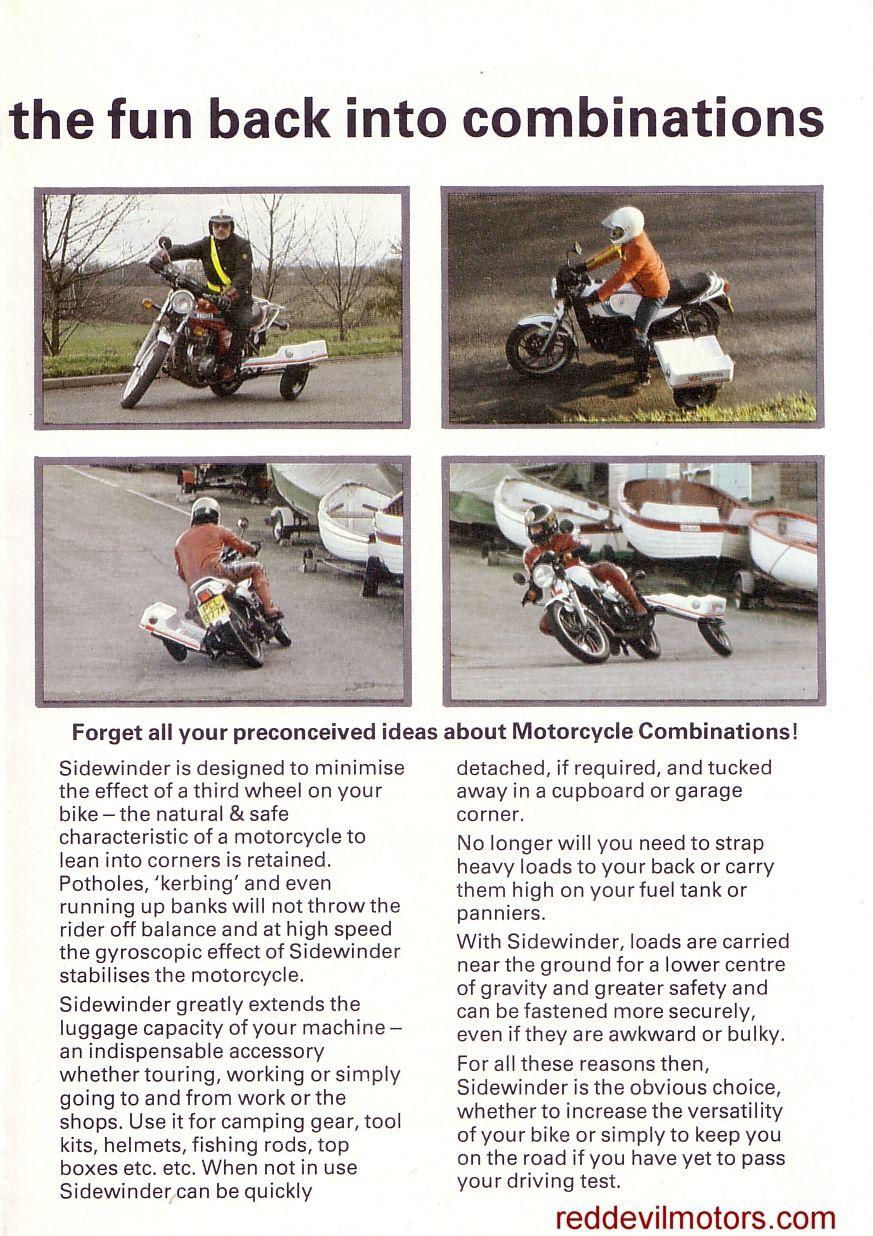 Red Devil Motors: Sidewinder learner sidecar | MOTORCYCLE BROCHURES ...