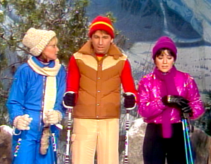 Three's Company Episode Downhill Chaser (Jack skiing down