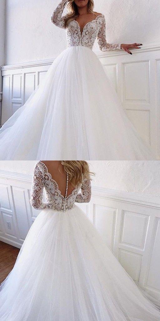 Photo of Elegante Brautkleider Mit Spitze Ärmel | Hochzeitskleid A Linie Online