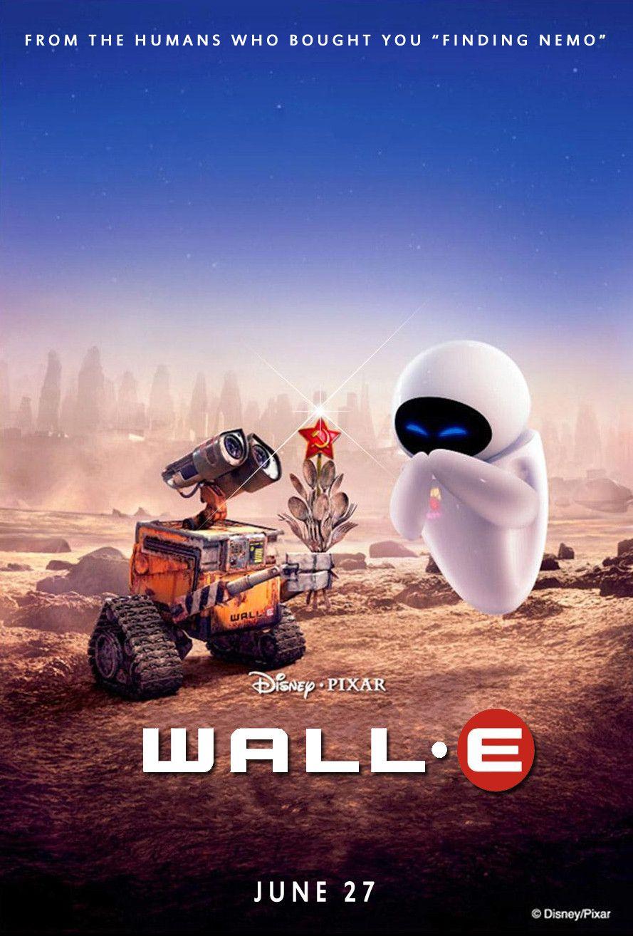 Wall E 2008 Wall E Romance Movie Poster Pixar