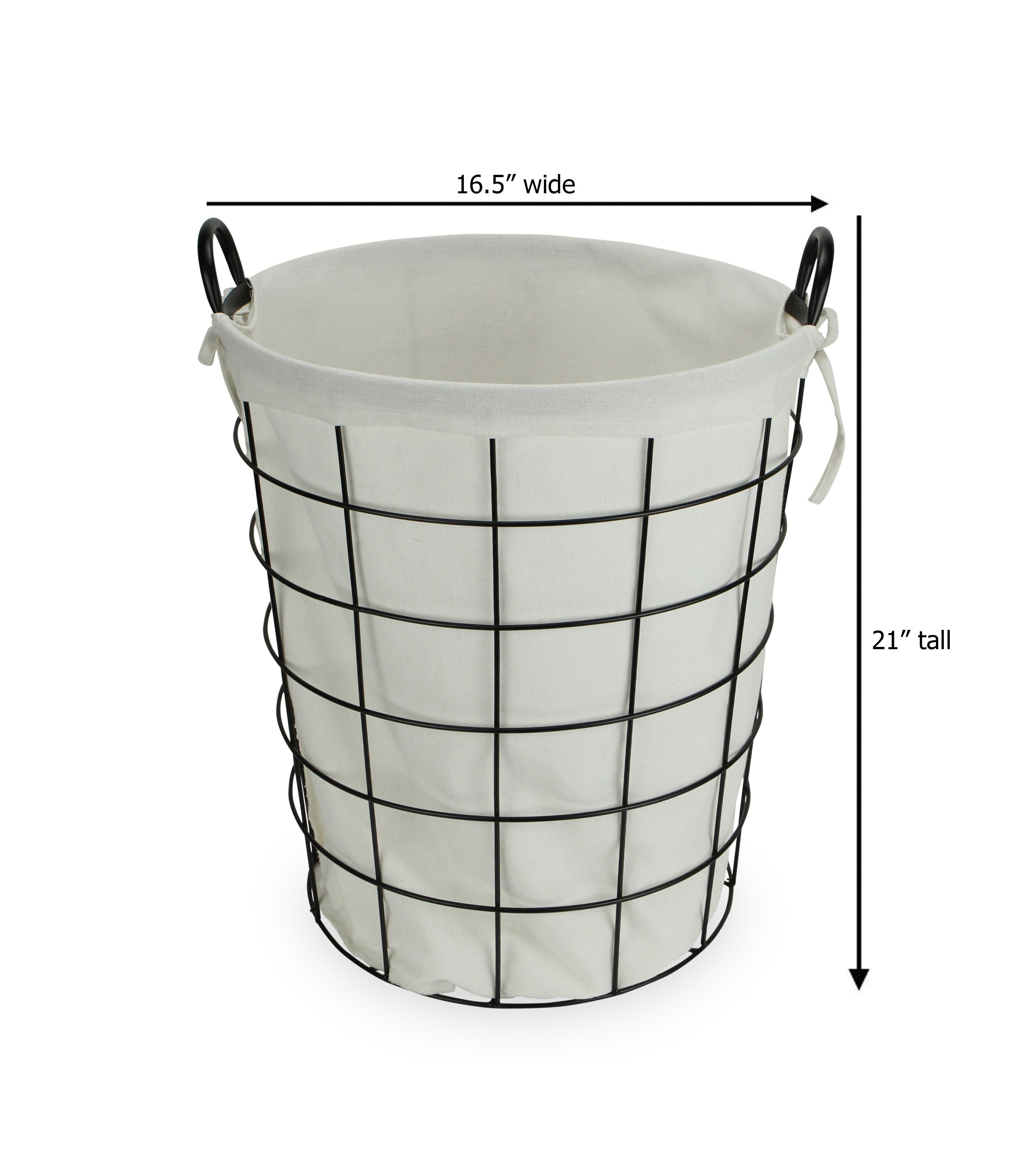 Cheungs Lined Metal Basket Wayfair Metal Baskets Wire Laundry