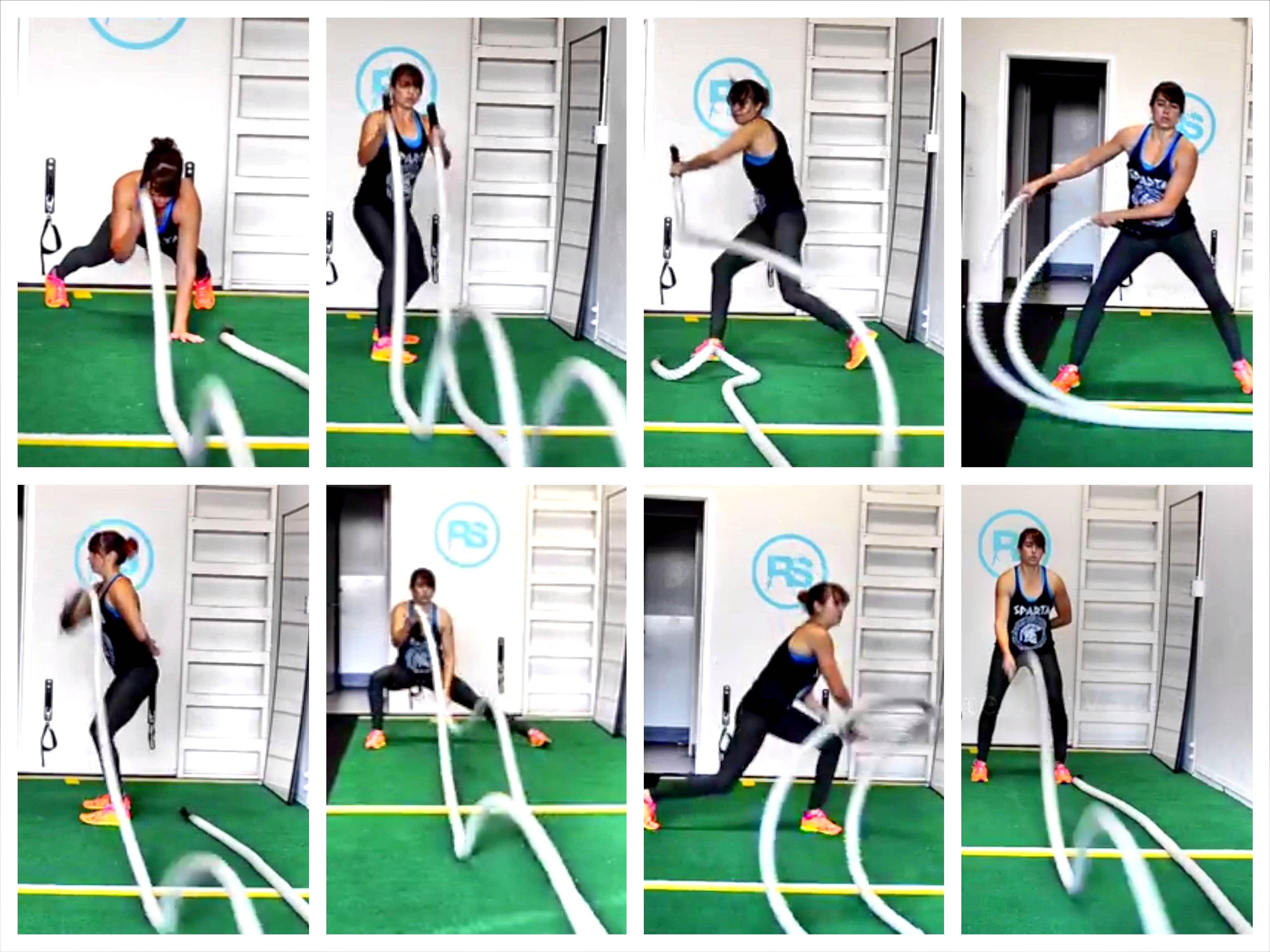 Battling Ropes Exercises Redefining Strength Battle Rope Workout Rope Exercises Battle Ropes