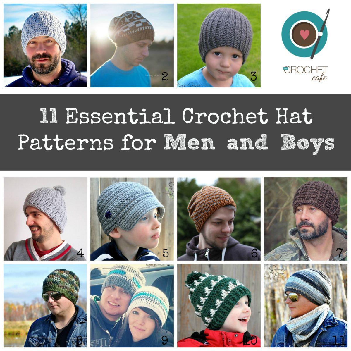 Crochet hat patterns for men and boys | Moogly Community Board ...