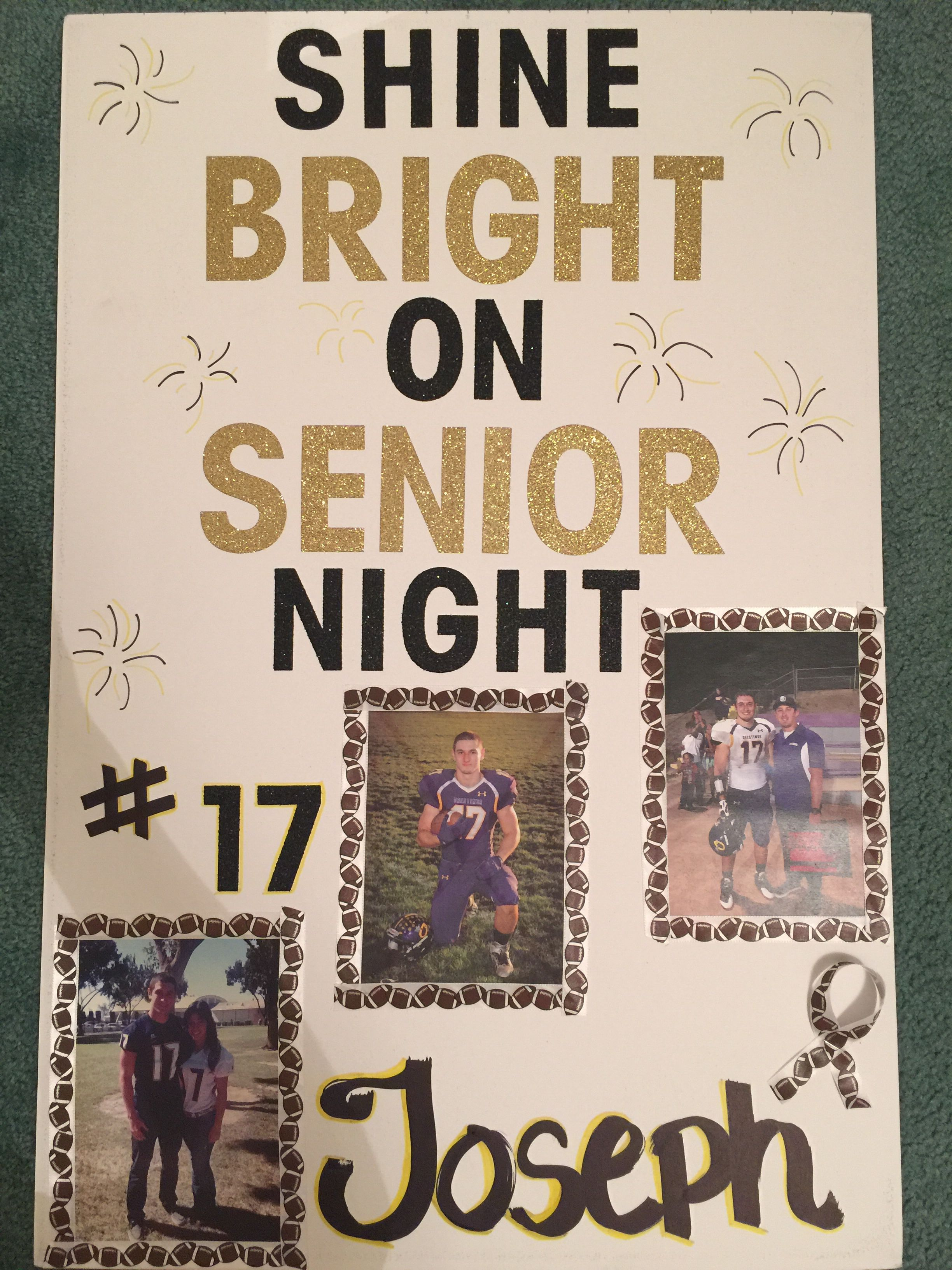 Senior Night High School Football Poster For Boyfriend Inspired By Pinterest Ideas Senior Gifts