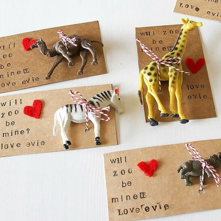 DIY zoo animal valentines