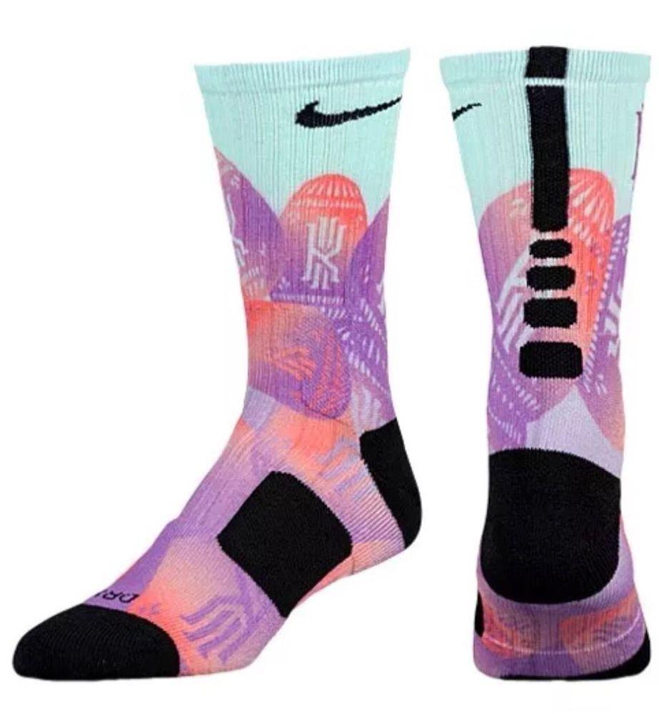 Nike Kyrie Hyper Elite Digital Print Crew Multicolor Basketball Socks